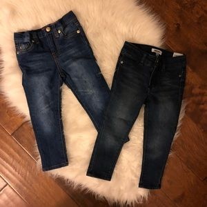 7 for all Mankind and DKNY Girls 2T Jeans NWOT